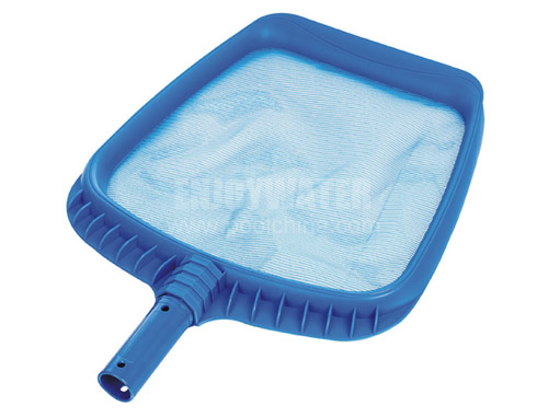 Heavy duty plastic leaf skimmer with long wear mesh screen