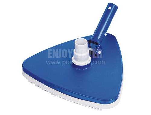 Triangular vacuum head with swivel and bumper (sand weighted)