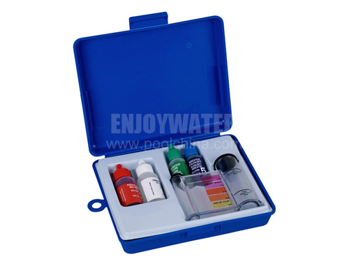 4-way test kit  for pool & spa: pH, Bromine, Acid demand, Total Alkalinity