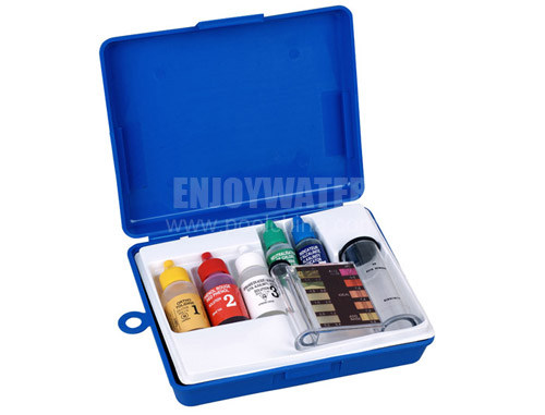 5-way test kit  for pool & spa: Chlorine and Bromine, pH, Acid demand, Total Alkalinity