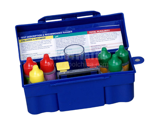 5-way Test Kit:  PH, CL, Bromine, Alkalinity, Acid Demand