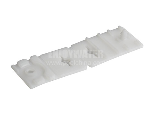 Plastic clip for pool cover and straps