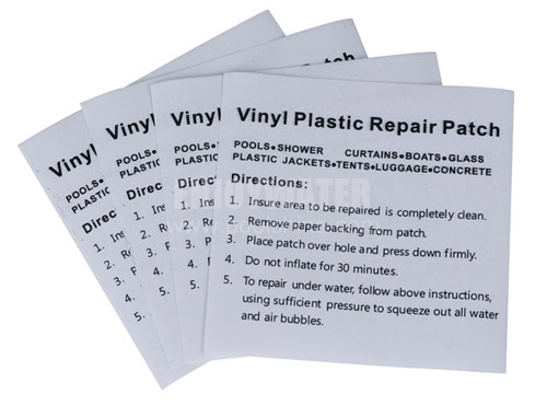 Vinyl plastic repair patch